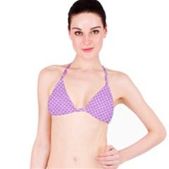 Scales3 White Marble & Purple Colored Pencil Bikini Top