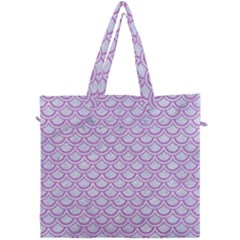 Scales2 White Marble & Purple Colored Pencil (r) Canvas Travel Bag by trendistuff