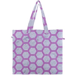 Hexagon2 White Marble & Purple Colored Pencil (r) Canvas Travel Bag by trendistuff