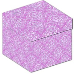 Damask1 White Marble & Purple Colored Pencil Storage Stool 12   by trendistuff