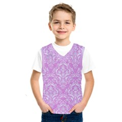 Damask1 White Marble & Purple Colored Pencil Kids  Sportswear