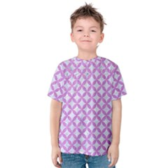 Circles3 White Marble & Purple Colored Pencil (r) Kids  Cotton Tee