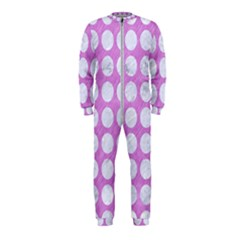 Circles1 White Marble & Purple Colored Pencil Onepiece Jumpsuit (kids) by trendistuff