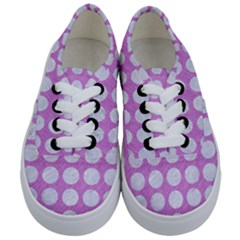 Circles1 White Marble & Purple Colored Pencil Kids  Classic Low Top Sneakers