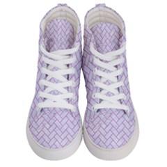 Brick2 White Marble & Purple Colored Pencil (r) Women s Hi Top Skate Sneakers