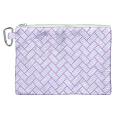 Brick2 White Marble & Purple Colored Pencil (r) Canvas Cosmetic Bag (xl) by trendistuff