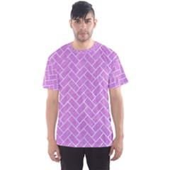 Brick2 White Marble & Purple Colored Pencil Men s Sports Mesh Tee by trendistuff
