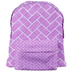 Brick2 White Marble & Purple Colored Pencil Giant Full Print Backpack by trendistuff