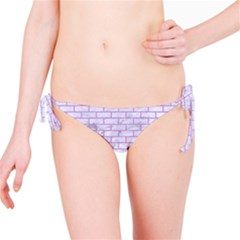 Brick1 White Marble & Purple Colored Pencil (r) Bikini Bottom