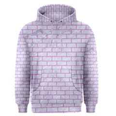 Brick1 White Marble & Purple Colored Pencil (r) Men s Pullover Hoodie by trendistuff