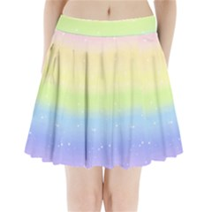 Pastelrainbowgalaxy Pleated Mini Skirt