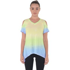 Pastelrainbowgalaxy Cut Out Side Drop Tee