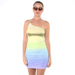 Pastelrainbowgalaxy One Soulder Bodycon Dress