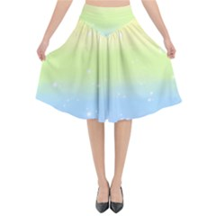 Pastelrainbowgalaxy Flared Midi Skirt