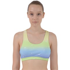 Pastelrainbowgalaxy Back Weave Sports Bra
