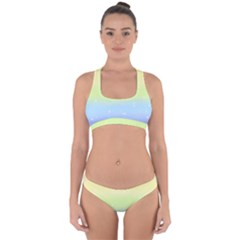 Pastelrainbowgalaxy Cross Back Hipster Bikini Set