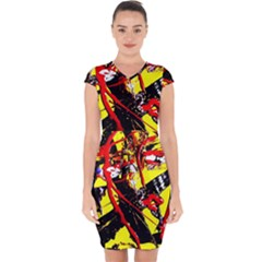 Cry About My Haircut 8 Capsleeve Drawstring Dress