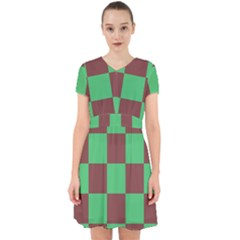 Background Checkers Squares Tile Adorable In Chiffon Dress