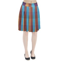 Background Desktop Squares Pleated Skirt