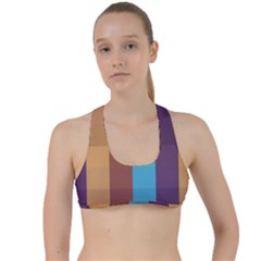 Background Desktop Squares Criss Cross Racerback Sports Bra