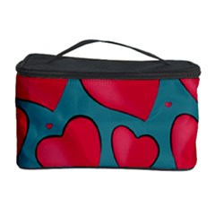 Background Desktop Hearts Heart Cosmetic Storage Case