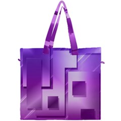 Purple Figures Rectangles Geometry Squares Canvas Travel Bag