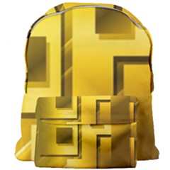 Yellow Gold Figures Rectangles Squares Mirror Giant Full Print Backpack