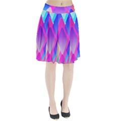 Squares Color Squares Background Pleated Skirt
