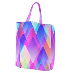 Squares Color Squares Background Giant Grocery Zipper Tote