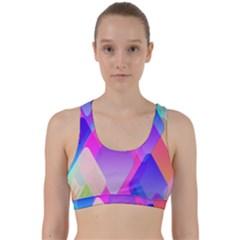 Squares Color Squares Background Back Weave Sports Bra