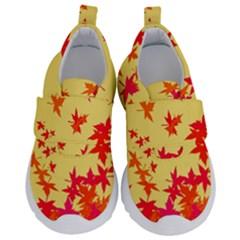 Leaves Autumn Maple Drop Listopad Velcro Strap Shoes