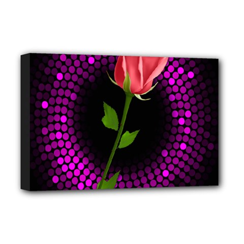 Rosa Black Background Flash Lights Deluxe Canvas 18  X 12