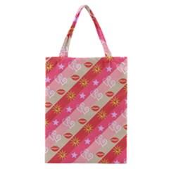 Background Desktop Pink Sun Stars Classic Tote Bag