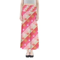 Background Desktop Pink Sun Stars Full Length Maxi Skirt