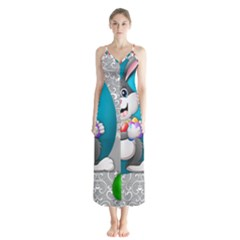 Illustration Celebration Easter Button Up Chiffon Maxi Dress
