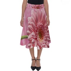 Background Texture Flower Petals Perfect Length Midi Skirt