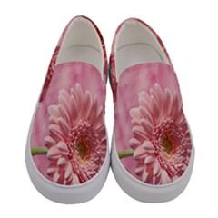 Background Texture Flower Petals Women s Canvas Slip Ons