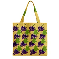 Grapes Background Sheet Leaves Grocery Tote Bag by Sapixe