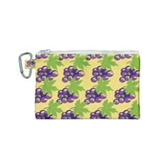 Grapes Background Sheet Leaves Canvas Cosmetic Bag (small) by Sapixe