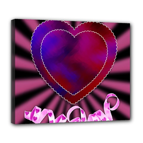 Background Texture Reason Heart Deluxe Canvas 24  X 20