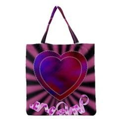Background Texture Reason Heart Grocery Tote Bag by Sapixe
