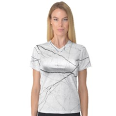 White Background Pattern Tile V Neck Sport Mesh Tee