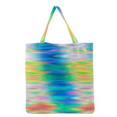 Wave Rainbow Bright Texture Grocery Tote Bag