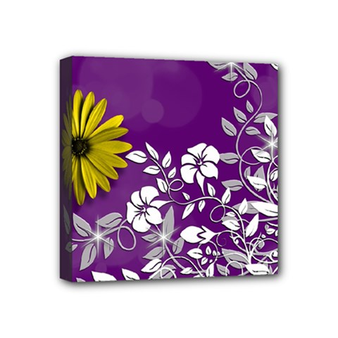 Background Bokeh Ornament Card Mini Canvas 4  X 4  by Sapixe