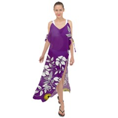 Background Bokeh Ornament Card Maxi Chiffon Cover Up Dress