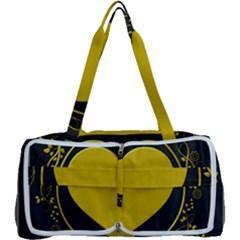 Background Heart Romantic Love Multi Function Bag