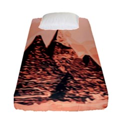 Pyramid Egypt Monumental Fitted Sheet (single Size) by Sapixe