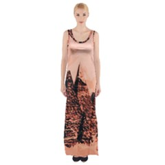 Pyramid Egypt Monumental Maxi Thigh Split Dress by Sapixe