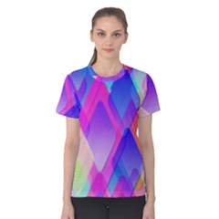 Squares Color Squares Background Women s Cotton Tee