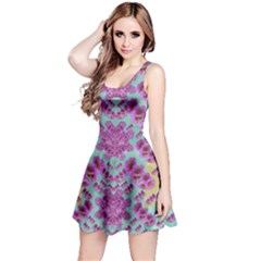 Climbing And Loving Beautiful Flowers Of Fantasy Floral Reversible Sleeveless Dress